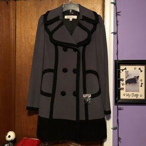 ❗️SALE❗️Black & Gray Pea Coat